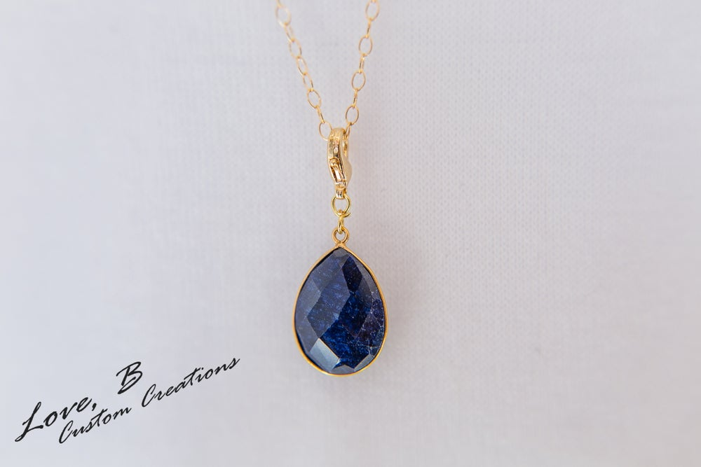 Image of Genuine Fissure Sapphire Interchangeable Pendant