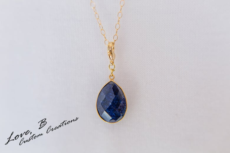 Image of Genuine Fissure Sapphire Interchangeable Pendant