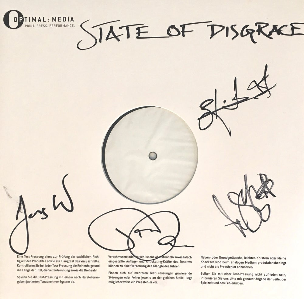 Image of Corroded - State of Disgrace (Signed LP Test Pressing)