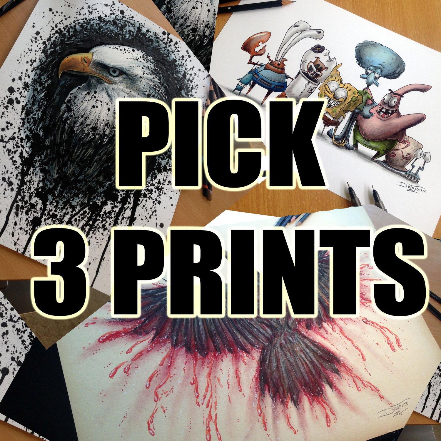 Image of PICK 3 PRINTS YOURSELF