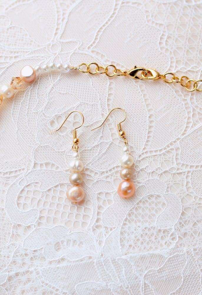 """Image of """"Elyse"""" Genuine Freshwater Pearl Drop Earrings"""