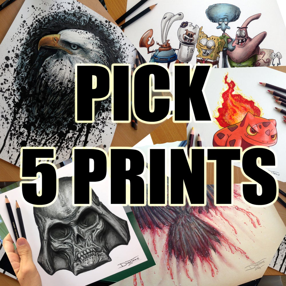 Image of PICK 5 PRINTS YOURSELF