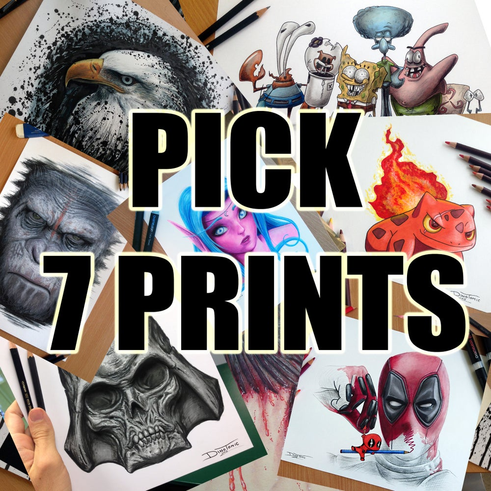 Image of PICK 7 PRINTS YOURSELF