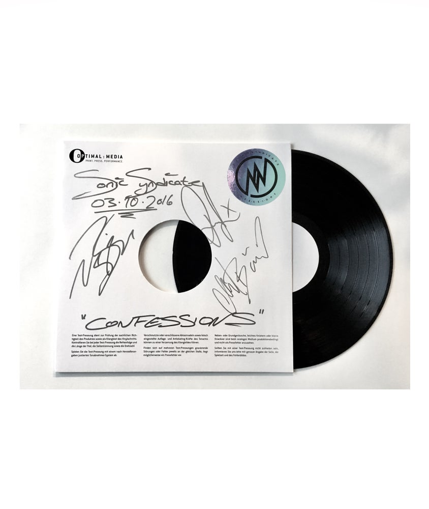 Image of Sonic Syndicate - Confessions (Signed LP Test Pressing)
