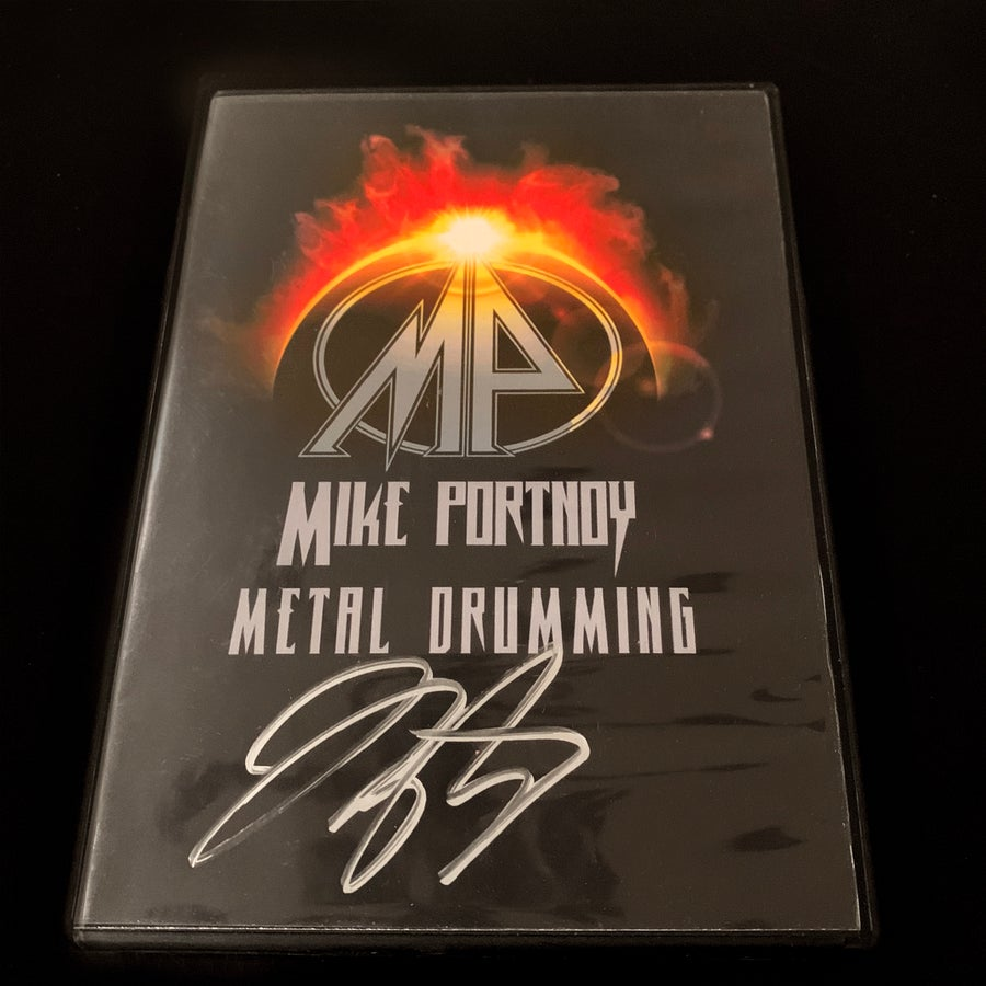 Image of Mike Portnoy Metal Drumming Autographed DVD