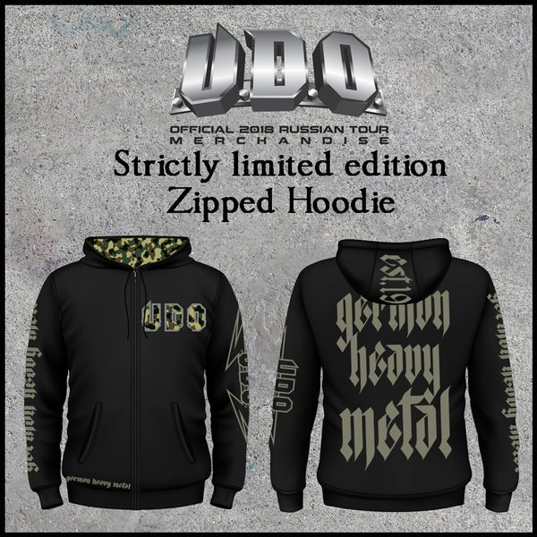 Image of Strictly limited official U.D.O. zip hoodie