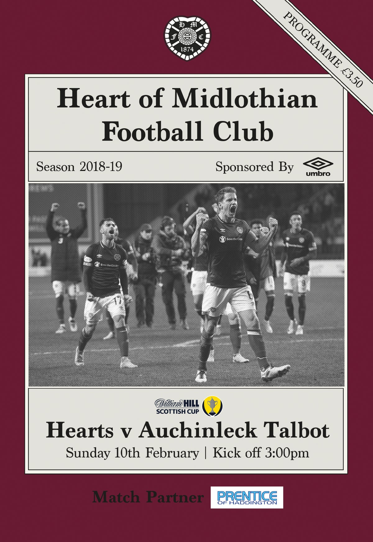 Image of Hearts v Auchinleck Talbot, 10th February 2019