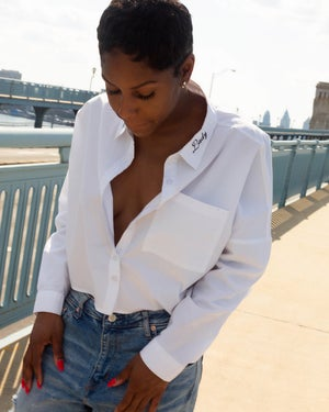 Image of 'Boss Lady' Business Shirt (CROPPED)