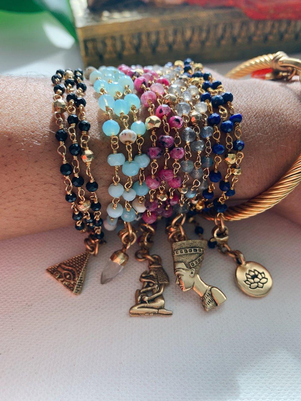 Image of DRIIPI • Crystal wrap bracelet w/ charm