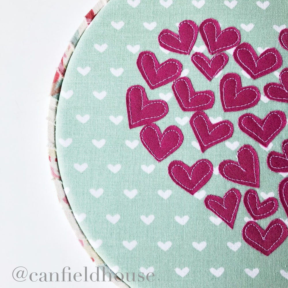 "Image of 8"" Heart of Heart Hoop with floral wrap"