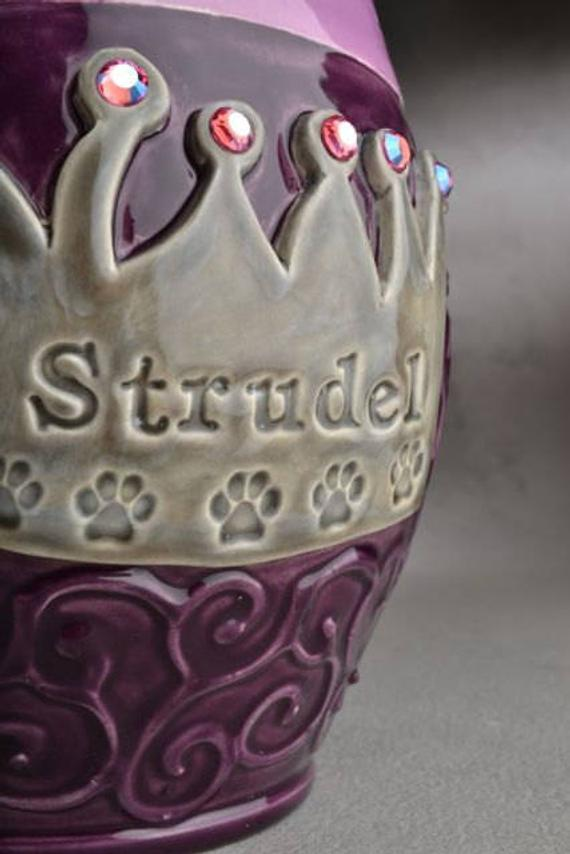 Image of Princess Crown Urn / Treat Jar Made To Order Symmetrical Pottery