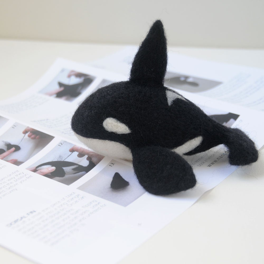 Image of Orca Whale - Needle Felting Kit