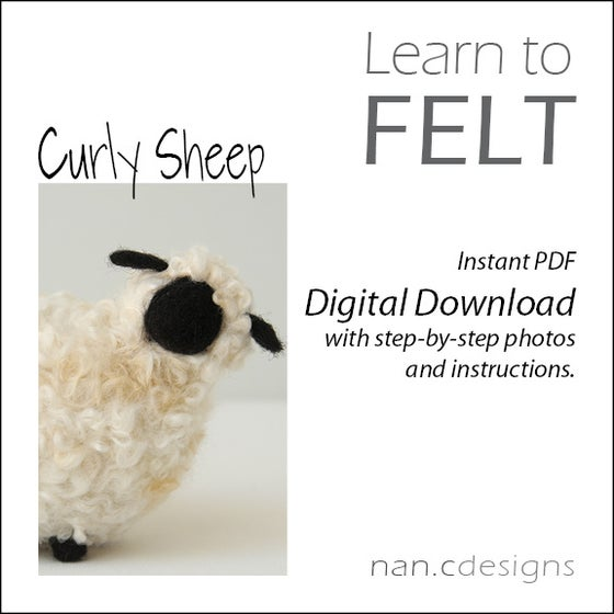 Image of PDF Curly Sheep Felting Instructions