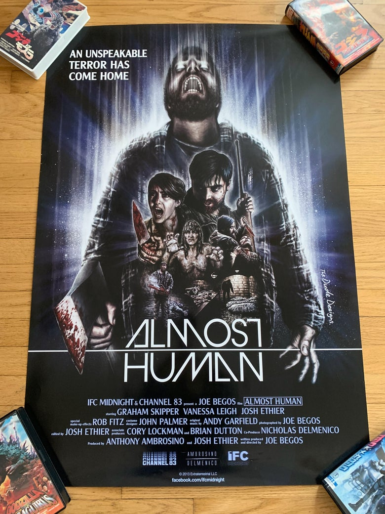 Image of 2010 ALMOST HUMAN Original U.S. One Sheet Movie Poster