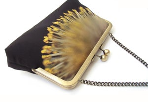 Image of Yellow catkin clutch bag