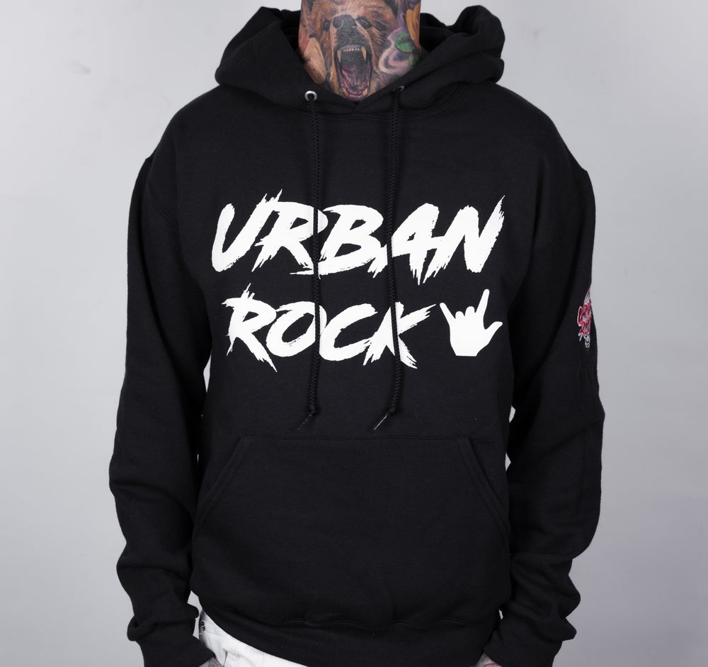 Image of Limited Edition Black Urban Rock Hoodie (with David Correy Signature)