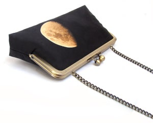 Image of Yellow moon clutch bag