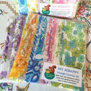 Image of DIY Vintage Sheet Scrappy Cushion kit