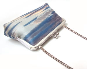 Image of Sunset clouds silk clutch bag