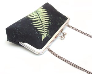 Image of Black fern clutch bag