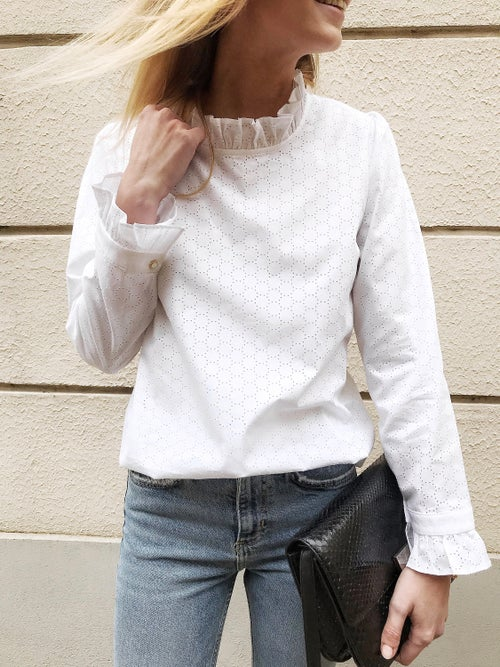 Image of BLOUSE TILDA - BLANC