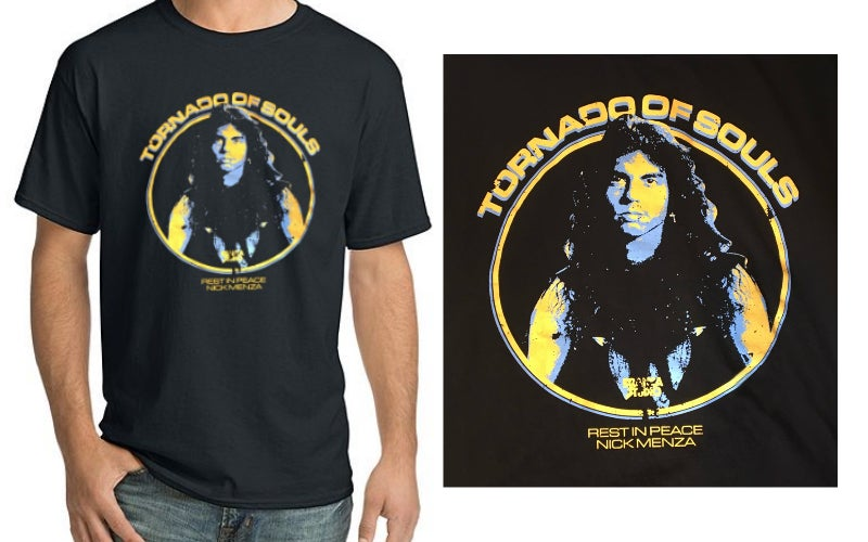 "Image of Nick Menza ""Tornado of Souls"" Shirt"