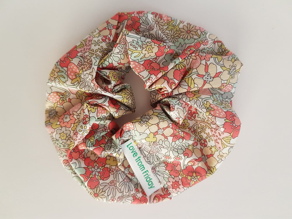 Image of Liberty scrunchie - strawberry patch