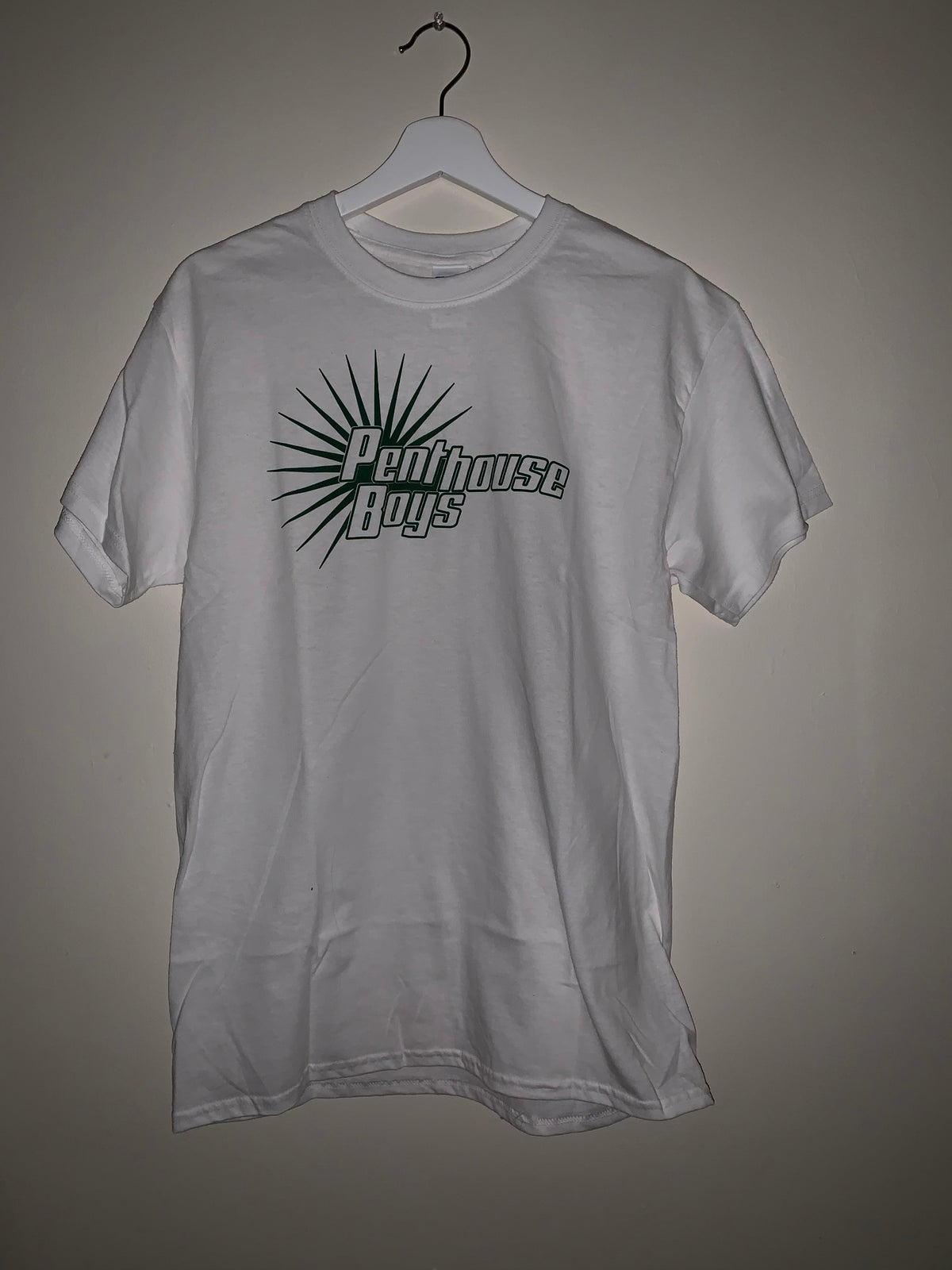 Image of Penthouse Boys Logo White w/Green Ink T-Shirt