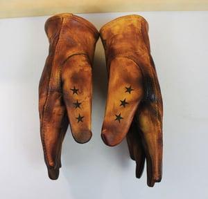Image of Carpe Diem/Live Fast,Die Whenever custom leather gloves