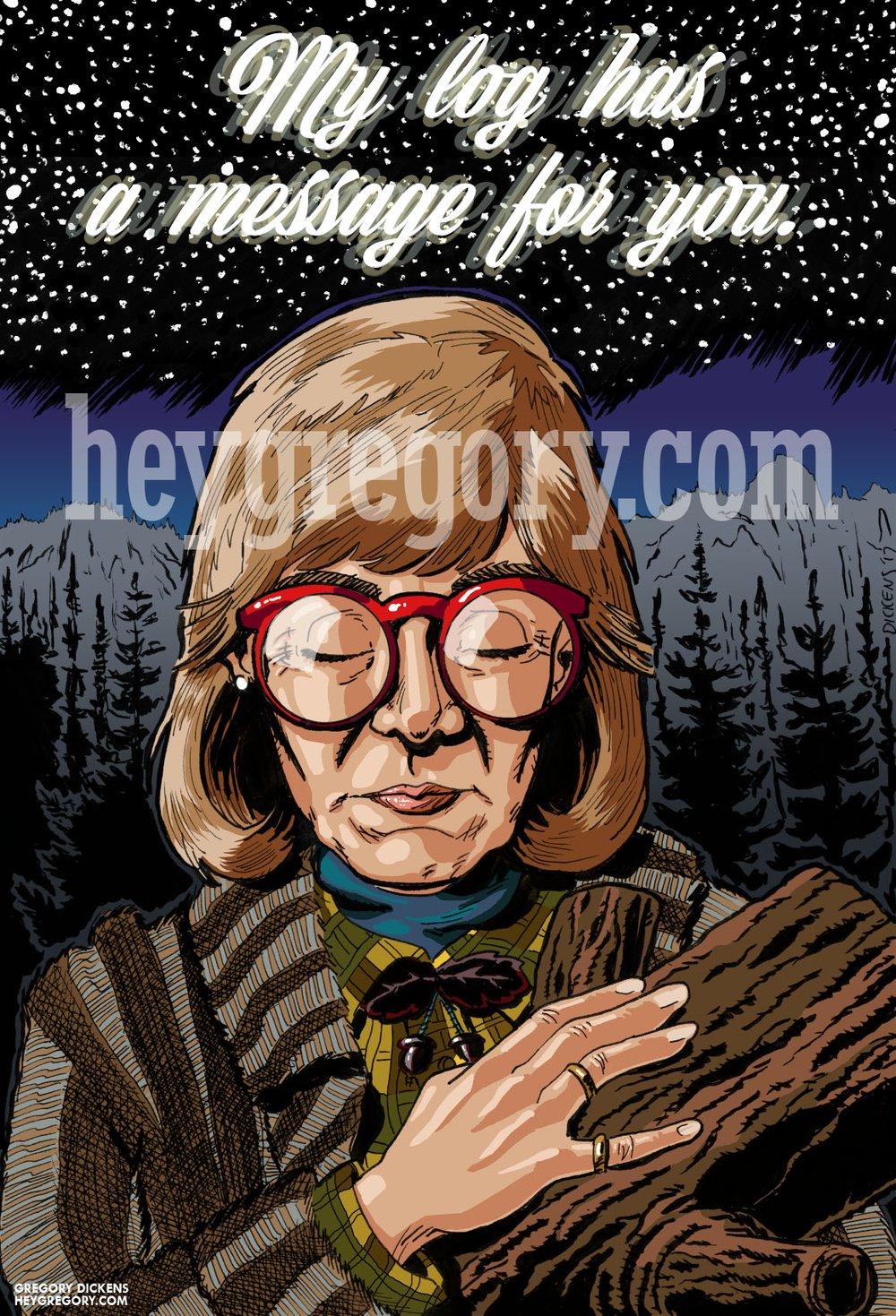 Image of Log Lady Print