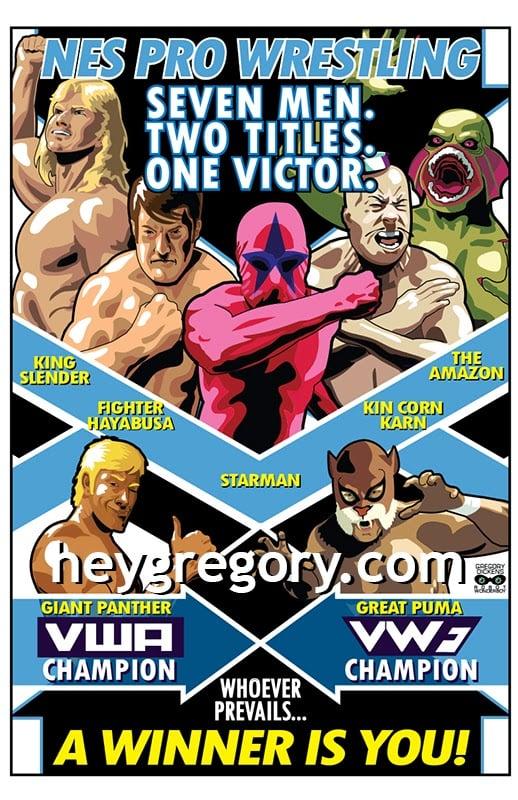 Image of NES Pro Wrestling Print