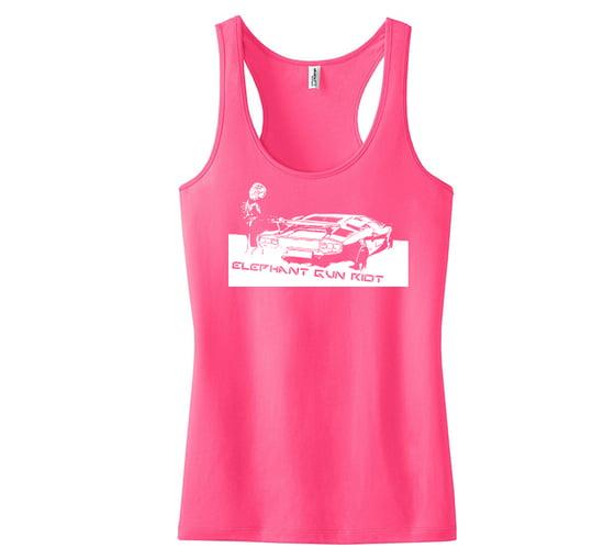 Image of White Lambo Logo Women's Racerback Tank