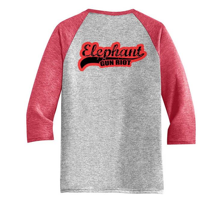 Image of Baseball Logo 3/4 Sleeve Raglan T-Shirt