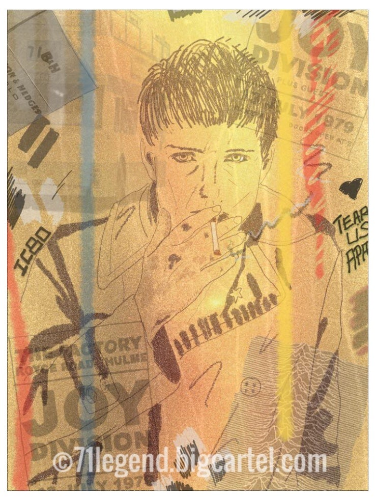 Image of Ian Curtis collage