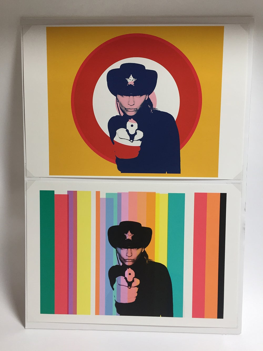 Image of couples sheriffs multicolor diptych by Chris Heads