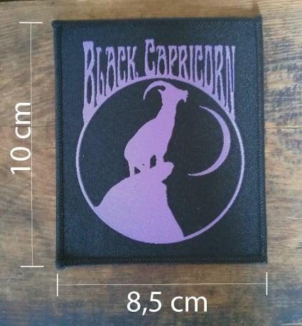 Image of Black Capricorn purple patch