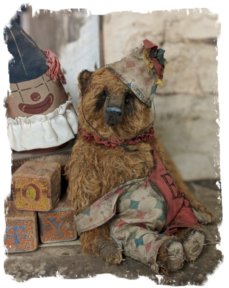 """Image of Old Ted 11.5"""" vintage style mohair carnival teddy bear by whendi's Bears"""