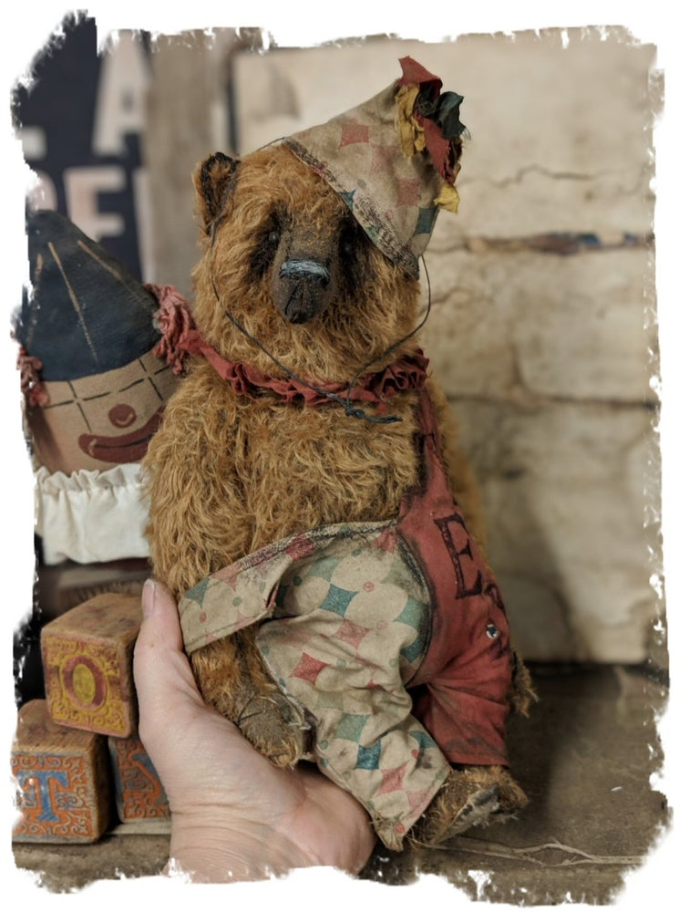 "Image of Old Ted 11.5"" vintage style mohair carnival teddy bear by whendi's Bears"