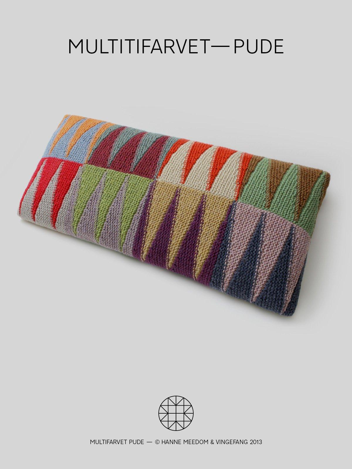 Opskrift / multifarvet—pude