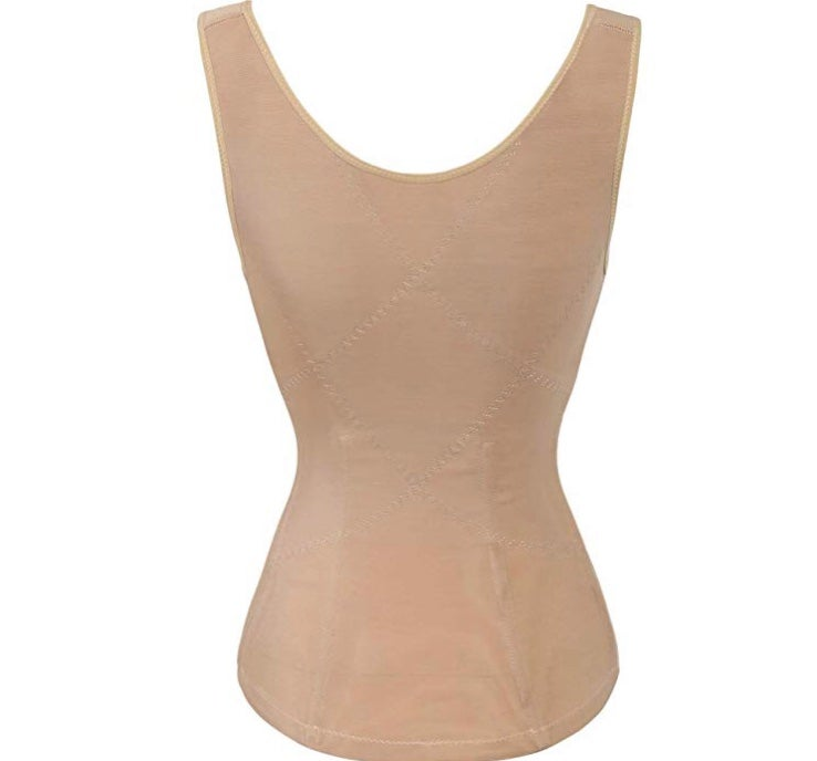 Image of Non-Latex Waist trainer Vest (Blk or Nude)