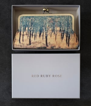 Image of Torridon trees silk clutch bag
