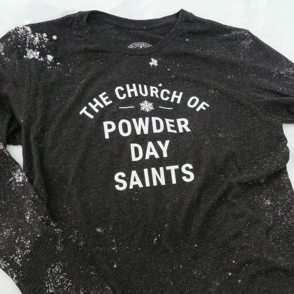 Image of Powder Day Saint Long-Sleeve Bold T