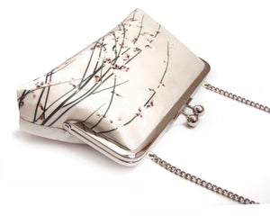Image of Flower blossom silk purse with chain