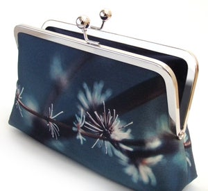 Image of Silver twigs clutch purse