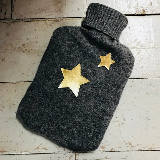 Image of Double Star Hot Water Bottle