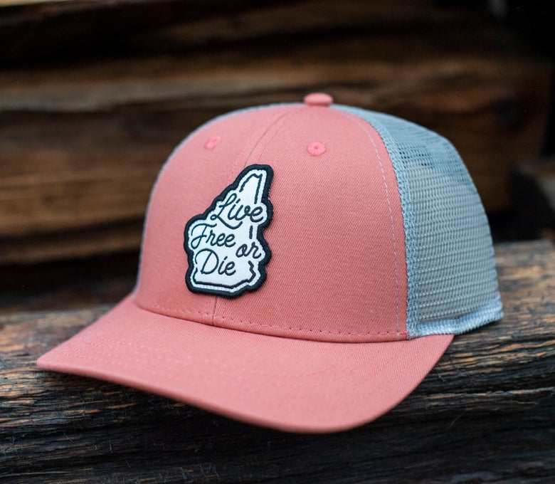 Image of Salmon/Grey LFOD Cursive Hat