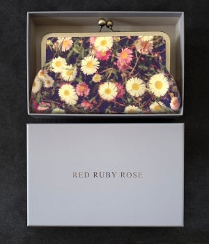 Image of Daisies silk clutch bag