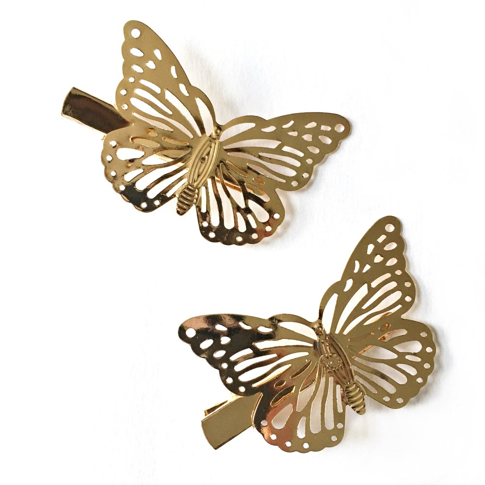 Image of Butterfly Hair Clips (Pair)
