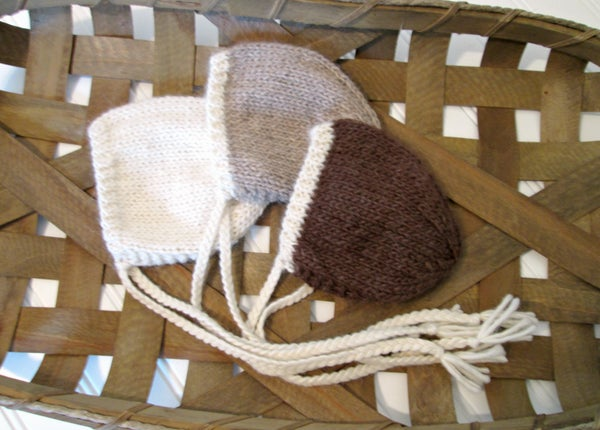 Image of RTS - Eco Alpaca Two Toned NB Bonnet - Select Colors Avail.