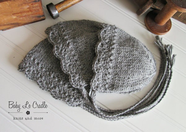 Image of RTS - Eco NB Bonnet - NEW Silver Gray - Angelina Undyed Alpaca